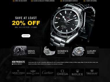 Watcheslimited - an eCommerce site on Magento