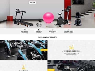 fit4home - an eCommerce site on WordPress