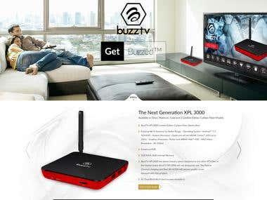 Buzz Tv - an eCommerce site on Wordpress