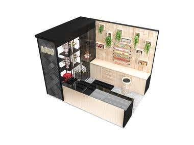 3d Model for Gift Wrapping Kiosk