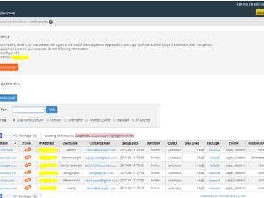 WHM/cPanel Management Script