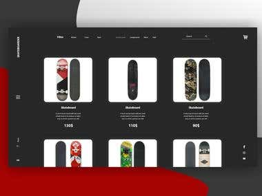 Skate shop - E Commerce for skateboard