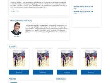 Hiregange Academy website