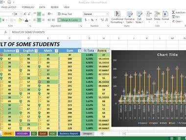 Microsoft Excel Result Create
