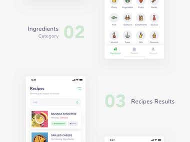 Recipe Mobile User Interface