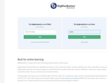 Develop online video conference system using bigbluebutton