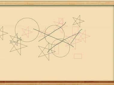 Haiwa art school drawing board display function