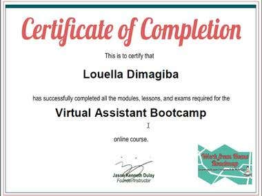 Virtual Assistant Bootcamp