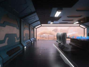 sci fi meating room