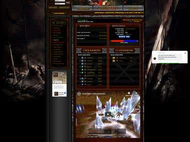 Online Game Statistics Board(PHP Mail Server + MySQL)