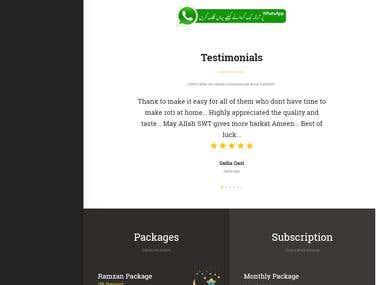 Roti Ghar - Wordpress website