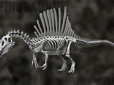 Spinosaurus for 3d printing project in progress...