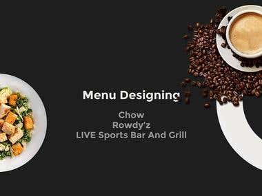 Menu Designing