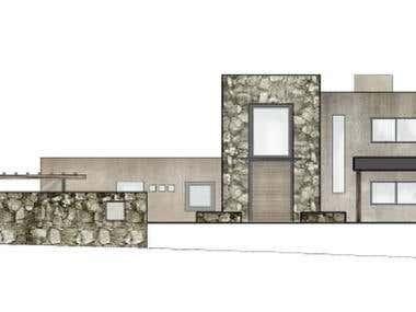 Vista arquitectónica con edición