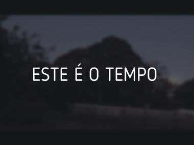ESTE É O TEMPO (THIS IS THE TIME) - short film