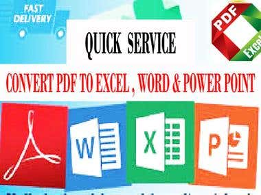 convert to word , exel or power point