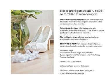 Descripccion de producto: Zapatillas novia