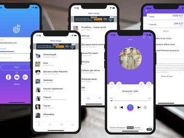 Audio Stream Service iOS App with In App Purchase