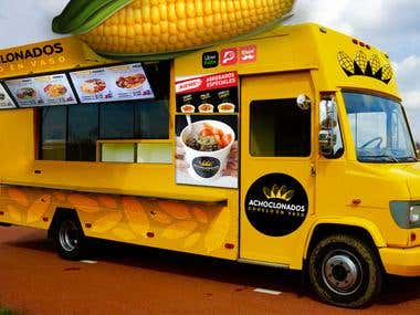 Food truck Photomontage