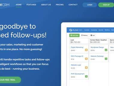 Flow CRM - A commercial SaaS CRM application