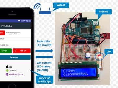 Arduino Wifi controller app