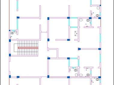 2d designs with elecctric design, senetation and layout