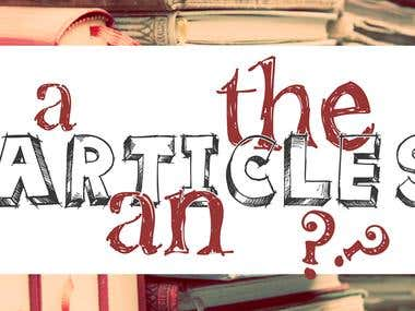 Article Writing Sample