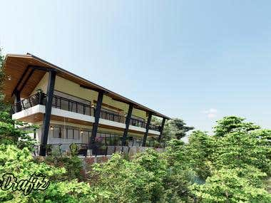 Vacation House. tropical house design.