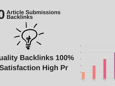 Provide 20 Article Submission With Da50+ Unique Domain Links