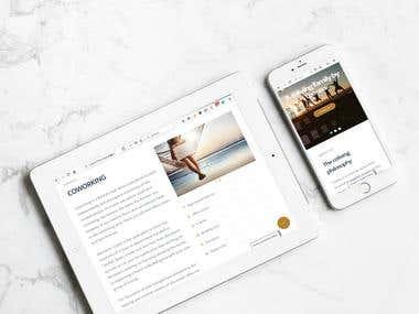 Wordpress website for 7days2go