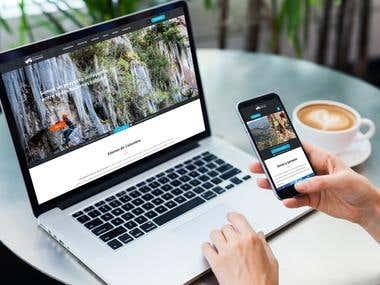"""Wordpress website examples - Foundation """"Edenes de Colombia"""""""