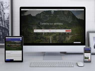 Wordpress website example - Refugio Munay