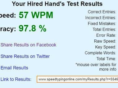 [TYPING SPEED] WORDS PER MINUTE
