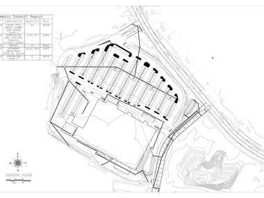 Drainage and Parking lots Design-- Quantity takeoff Report