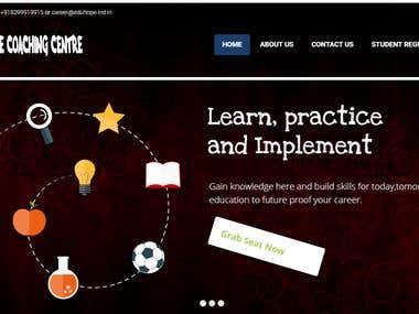 Portfolio Website For Coaching Center