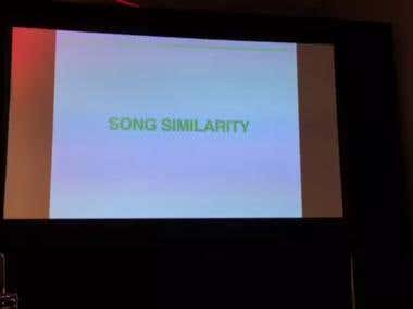 Recommendation engine for music Streaming