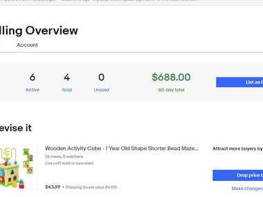 eBay And Shopify Website Products Research and Listing