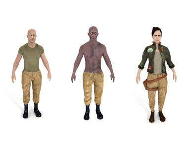 3D game characters