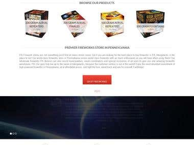 Wordpress - eCommerce website for sell fireworks