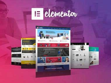 WordPress theme development using elementor page builder