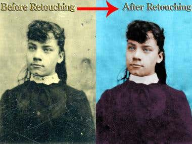 Retouching a Old Time Photography