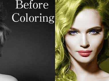 Coloring a Woman