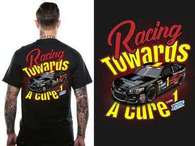 Sports Car Racing t-shirt design