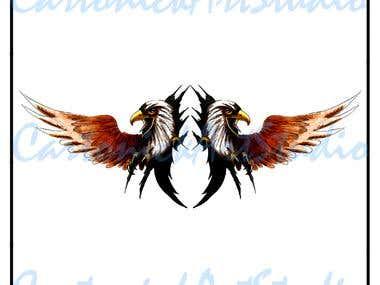 Eagle set illustrations