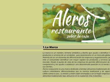 ALEROS - diseño de marca para restaurante de comidas típicas