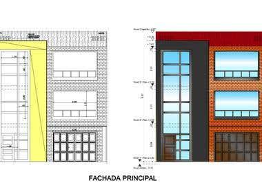 Aplicación de color a fachada