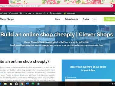 Edit shopify page