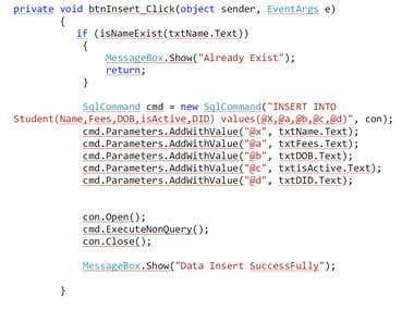Asp.Net coding