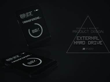 External Hard Drive With Translucent Display | ProductDesign