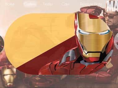 ironman web design- MARVEL